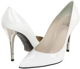 Stuart Weitzman - Naughty (White Patent) - Footwear