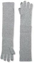 Sofia Cashmere Women's Turnback Gloves, Grey Flannel