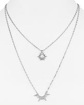 Rebecca Minkoff Double Pendant Star Necklace, 16