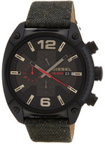 Diesel Men&s Overflow Denim Strap Watch