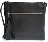 Halogen Tasseled Leather Crossbody Bag - Black
