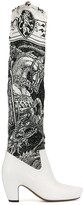 """Lanvin Saint George and the Dragon"""" print boots"""