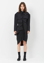 Yohji Yamamoto black pocket triple layer jacket