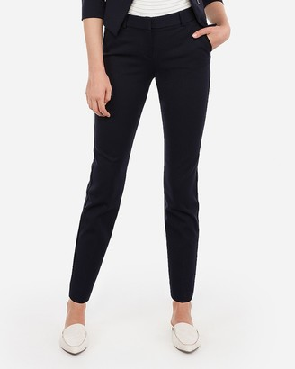 Express Mid Rise Piped Ankle Columnist Pant