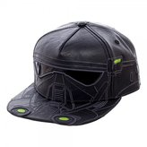 Bioworld Men's Star Wars Rogue Death Trooper Pu Snapback Cap