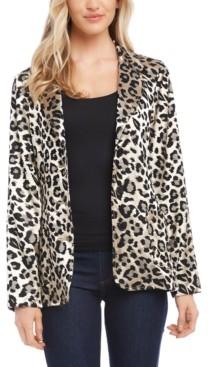Karen Kane Jacquard Leopard Blazer
