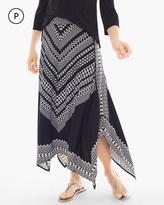 Chico's Bi-Color Geometric Maxi Skirt
