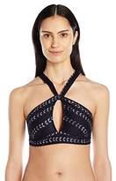 Robin Piccone Women's Imani Halter Neck Keyhole Bikini Top