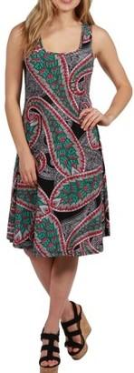 24/7 Comfort Apparel 24Seven Comfort Apparel Hansa Fit and Flare Dress