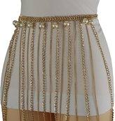 Trendy Fashion Jewelry TFJ Women Fashion Belt Color Metal Chain Hip Waist Skull Skeleton XS S M