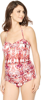 A Pea in the Pod Ikat Knot Front Maternity Tankini Swimsuit