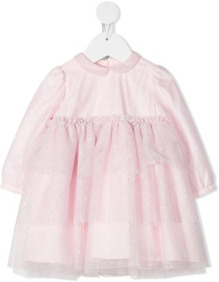 Il Gufo Glitter Tulle Dress