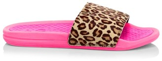 Athletic Propulsion Labs Women's Iconic Leopard-Print Calf Hair Slides