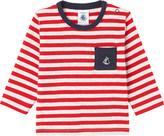 Petit Bateau Striped long-sleeved cotton top 3-36 months
