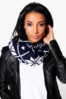 Boohoo Arabella Snowflake Fairisle Reversible Snood
