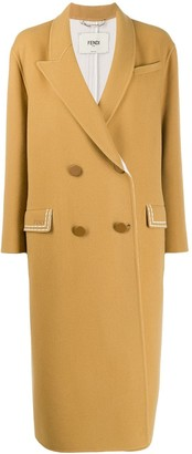 Fendi Double-Breasted Long Coat