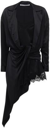 Alexander Wang Draped Silk Mini Dress