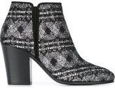 Giuseppe Zanotti Design chunky heel ankle boots - women - Leather/Nylon/PVC - 37.5