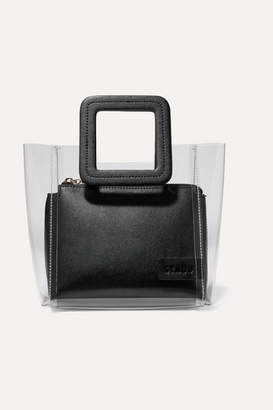 STAUD Shirley Mini Pvc And Textured-leather Tote - Black