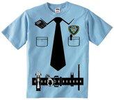 Fresh Tees Kid's Police Cop Uniform Costume Tee Tuxedo T-shirts