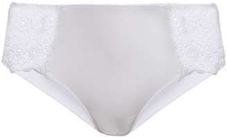 Wacoal Guipure Lace, Stretch-tulle And Jersey Mid-rise Briefs