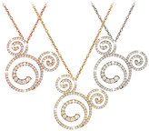 Disney Diamond Swirl Mickey Mouse Necklace - 14K