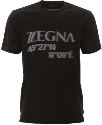 Ermenegildo Zegna Maxi Logo T-shirt