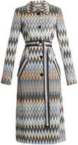 Missoni Long zigzag print coat