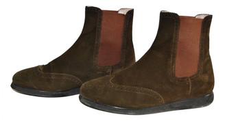 Salvatore Ferragamo Khaki Suede Ankle boots
