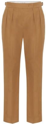 Max Mara Polonia high-rise slim cotton pants