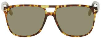 Tom Ford Tortoiseshell Shelton Sunglasses