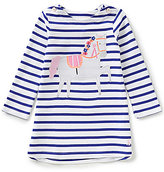 Joules Baby/Little Girls 12 Months-3T Kaye Horse Striped Long-Sleeve Swing Dress
