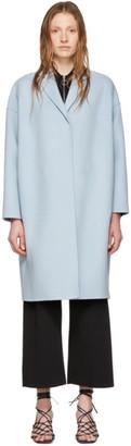 Stella McCartney Blue Wool Bilpin Coat