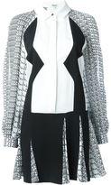 Kenzo diagonal stripes shirt dress