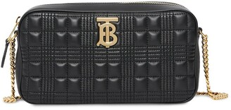 Burberry Logo Plaque Quilted Camera Bag