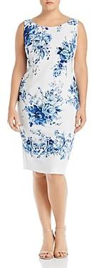 Marina Rinaldi Dativo Convertible Floral Print Sheath Dress