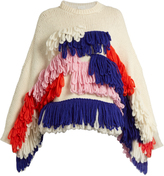 DELPOZO Fringed alpaca-blend chunky-knit sweater