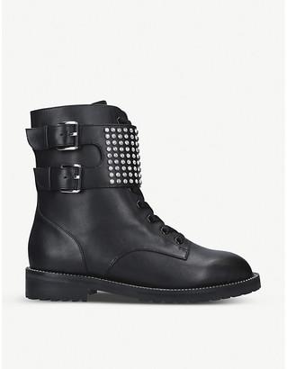 Kurt Geiger London Seth stud-embellished leather ankle boots