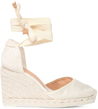 Castaner 80mm Carina Satin Espadrille Wedges