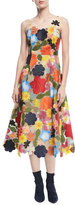 Rosie Assoulin Hodges Podges Floral A-Line Dress