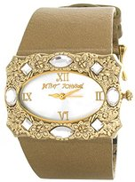 Betsey Johnson Women's BJ2012 Gold-Tone Metallic Leather Watch