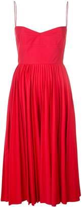 KHAITE pleated skirt midi dress