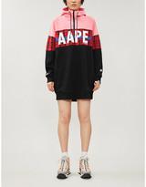 Aape Logo-print cotton-blend jersey hoody