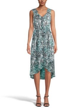 INC International Concepts Inc Printed High-Low Midi Dress, Created for Macy's