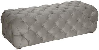 One Kings Lane Liane Tufted Bench - Gray Velvet