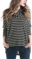 Olive & Ivory Stripe Maternity Sloane Sweater