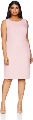 Kasper Women's Size Plus Solid Crepe Sheath Dress
