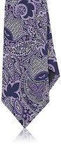 Ermenegildo Zegna Men's Paisley Silk Necktie-PURPLE