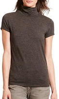 Lauren Ralph Lauren Short Sleeve Turtleneck Jersey Tee