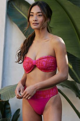 Seafolly Retro Bandeau Bikini Top By in Red Size 4